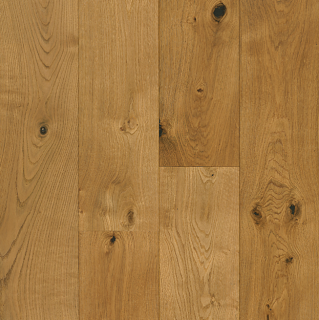 """Hartco - TimberBrushed Gold 1/2"""" thick x 7-1/2"""" wide Deep Etched Natural White Oak Engineered Hardwood Flooring"""