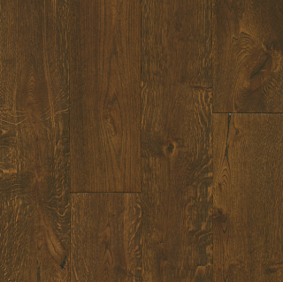 """Hartco - TimberBrushed Gold 1/2"""" thick x 7-1/2"""" wide Deep Etched Hampton Brown White Oak Engineered Hardwood Flooring"""