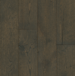 """Hartco - TimberBrushed Gold 1/2"""" thick x 7-1/2"""" wide Deep Etched Iron Mountain White Oak Engineered Hardwood Flooring"""