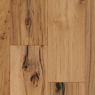 """Hartco - TimberBrushed Gold 1/2"""" thick x 7-1/2"""" wide Deep Etched Natural Hickory Engineered Hardwood Flooring"""