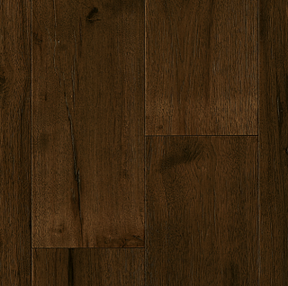 """Hartco - TimberBrushed Gold 1/2"""" thick x 7-1/2"""" wide Deep Etched Mountain Retreat Hickory Engineered Hardwood Flooring"""