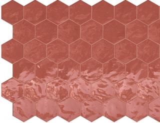 "Terratinta - 6"" Hexa Cherry Pie Hexagon Glossy Wall Tile TTHXW06G"