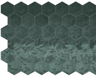 "Terratinta - 6"" Hexa Green Echo Hexagon Glossy Wall Tile TTHXW07G"