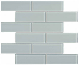 "Anatolia - 2""x6"" Bliss Element Cloud Brick Glass Mosaic Tile 35-088"