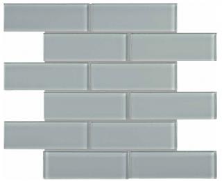 "Anatolia - 2""x6"" Bliss Element Shadow Brick Glass Mosaic Tile 35-089"