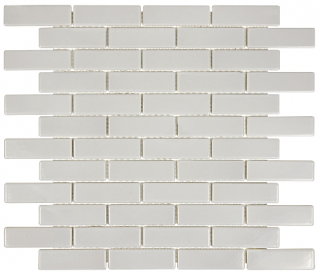 "Anatolia - 1""x3"" Soho Warm Grey Mini Brick Mosaic Tile 51-062 (11""x12"" Sheet)"