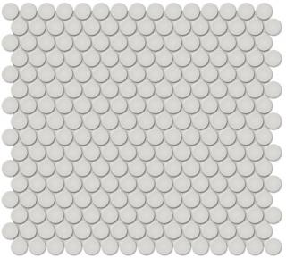 "Anatolia - 3/4"" Soho Warm Grey Penny Round Glossy Mosaic Tile 51-032 (12""x12"" Sheet)"