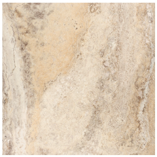 "18""x18"" Picasso Travertine Filled & Honed Tile 73-308"