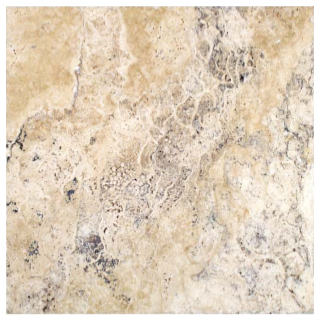 "16""x16"" Picasso Travertine Chiseled & Brushed Tile 73-517"