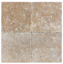 "6""x6"" Noce Tumbled Travertine Tile 73-051"
