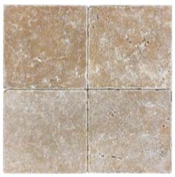 "6""x6"" Noce Tumbled Travertine Tile 73-051"