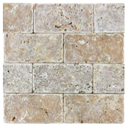 "3""x6"" Noce Tumbled Travertine Tile 73-031"