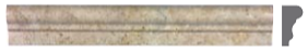"1-7/8""x12"" Noce Honed Travertine Chair Rail Molding 77-317"