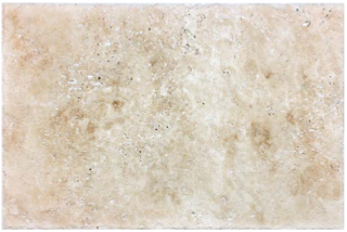 "16""x24"" Walnut Travertine Brushed & Chiseled Tile 73-535"