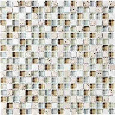 "Anatolia - 5/8""x5/8"" Bliss Spa Glass Stone Blend Mosaic Tile 35-001"