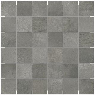"Anatolia - 2""x2"" Ceraforge Titanium Mosaic Tile"