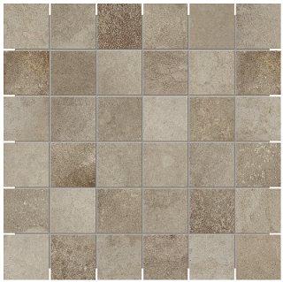 "Anatolia - 2""x2"" Ceraforge Iron Mosaic Tile"