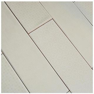 "Studio S - 3""x12"" Caress Foggy Morning Mixed Decos Wall Tile"