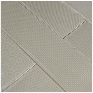 """Studio S - 3""""x12"""" Caress Wet Concrete Mixed Decos Wall Tile"""