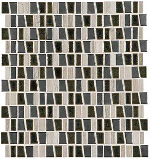 "Marazzi - Midpark Shadow 1""xRandom Trapezoid Mosaic Tile (12""x12"" Sheet)"