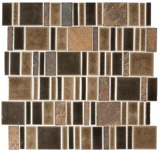 """Marazzi - Midpark Bark 2""""xRandom Square Mosaic Tile (13""""x13"""" Sheet)"""