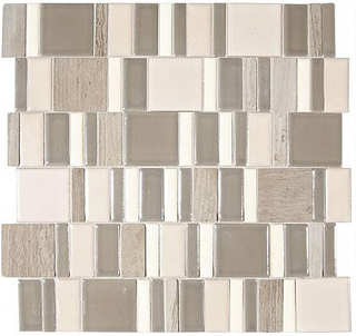 "Marazzi - Midpark Rainstorm 2""xRandom Square Mosaic Tile (13""x13"" Sheet)"
