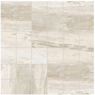 "Florim/Milestone - 2""x2"" Breccia White Matte Mosaic Tile"