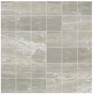 "Florim/Milestone - 2""x2"" Breccia Silver Matte Mosaic Tile"