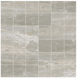 "Florim/Milestone - 2""x2"" Breccia Silver Polished Mosaic Tile"