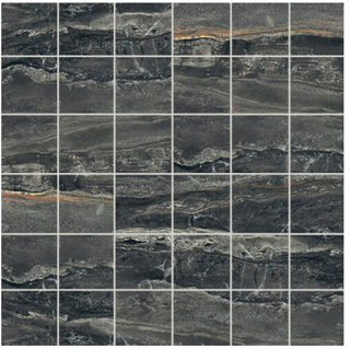 """Florim/Milestone - 2""""x2"""" Breccia Noir Matte Mosaic Tile"""
