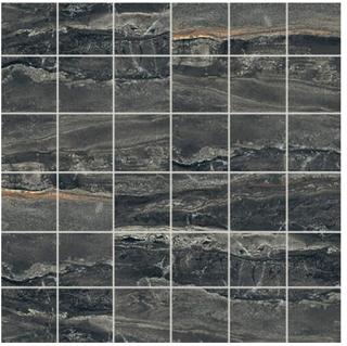 "Florim/Milestone - 2""x2"" Breccia Noir Polished Mosaic Tile"