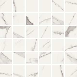 "Vallelunga - 2""x2"" Statuario Porcelain Mosaic Tile"