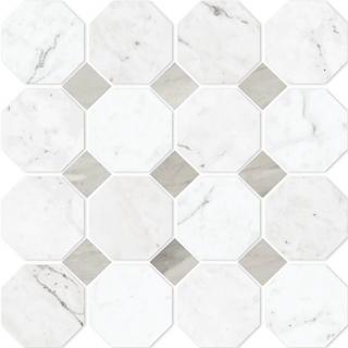 Vallelunga - Carrara Octagona Octagon Porcelain Mosaic Tile