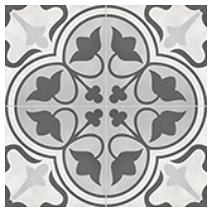 "Anatolia - 8""x8"" Form Clover Ice Deco Porcelain Tile 60-313"