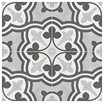 "Anatolia - 8""x8"" Form Baroque Ice Deco Porcelain Tile 60-314"