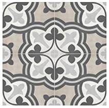 "Anatolia - 8""x8"" Form Baroque Sand Deco Porcelain Tile 60-321"
