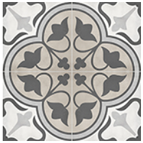 "Anatolia - 8""x8"" Form Clover Sand Deco Porcelain Tile 60-320"