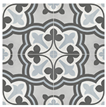 "Anatolia - 8""x8"" Form Baroque Tide Deco Porcelain Tile 60-328"