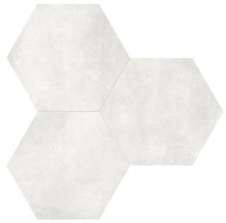 "Anatolia - 7""x8"" Form Ivory Hexagon Porcelain Tile 60-400"