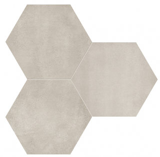 "Anatolia - 7""x8"" Form Sand Hexagon Porcelain Tile 60-401"