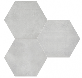 "Anatolia - 7""x8"" Form Ice Hexagon Porcelain Tile 60-402"