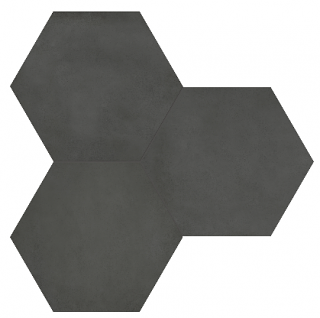 "Anatolia - 7""x8"" Form Graphite Hexagon Porcelain Tile 60-403"