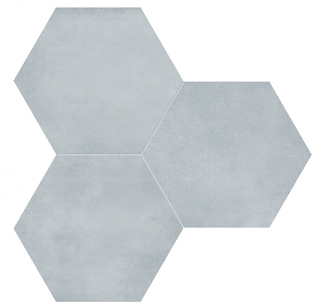 "Anatolia - 7""x8"" Form Tide Hexagon Porcelain Tile 60-404"