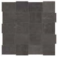 "American Olean - 2""x3"" Union Black Nickel Modern Weave Mosaic Tile UN05"