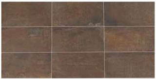 "American Olean - 12""x24"" Union Rusted Brown Porcelain Tile UN04"