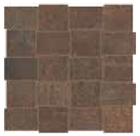 """American Olean - 2""""x3"""" Union Rusted Brown Modern Weave Mosaic Tile UN04"""