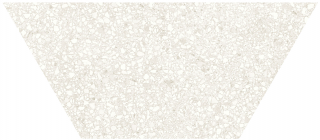 "Anatolia - 10""x24"" Station Ivory Half Hexagon Porcelain Tile 64-001 (Rectified Edges)"