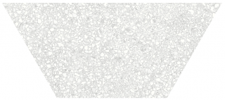 "Anatolia - 10""x24"" Station Pearl Half Hexagon Porcelain Tile 64-002 (Rectified Edges)"