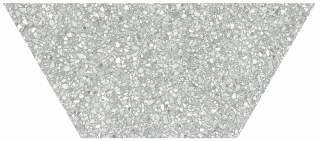 """Anatolia - 10""""x24"""" Station Ash Half Hexagon Porcelain Tile 64-003 (Rectified Edges)"""