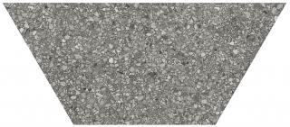 """Anatolia - 10""""x24"""" Station Shadow Half Hexagon Porcelain Tile 64-004 (Rectified Edges)"""